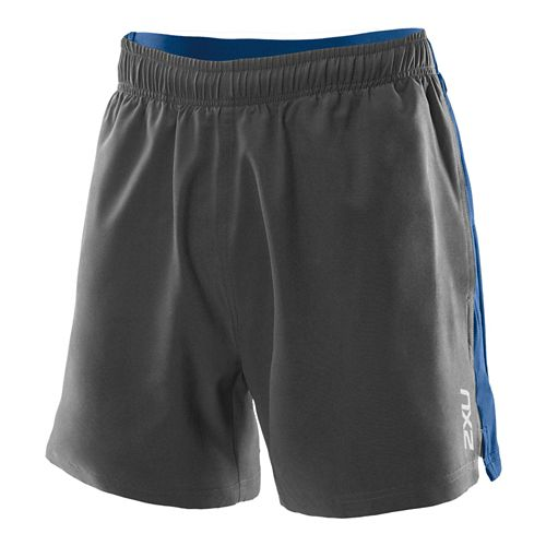 Mens 2XU Core Lined Shorts - Charcoal L