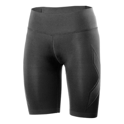 Womens 2XU XTRM Compression Unlined Shorts - Black/Scarlet XL