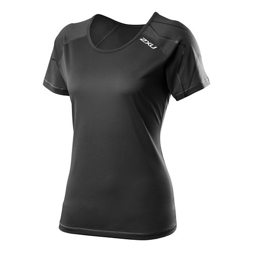 Womens 2XU GHST Short Sleeve Technical Tops - Black/Black S