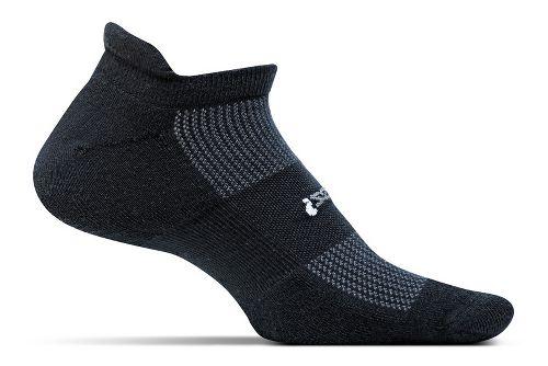 Feetures High Performance Cushion No Show Tab Socks - Black M