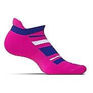 Feetures High Performance Cushion No Show Tab Socks - Wisteria Pattern M