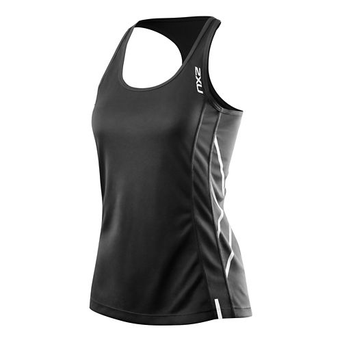 Womens 2XU X Tech Tank Technical Tops - Black/Black M
