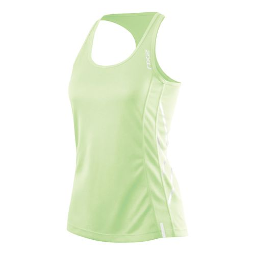 Womens 2XU X Tech Tank Technical Tops - Honeydew/Honeydew L