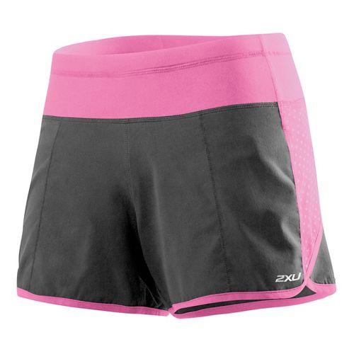 Womens 2XU Cross Sport Lined Shorts - Charcoal/Musk XL