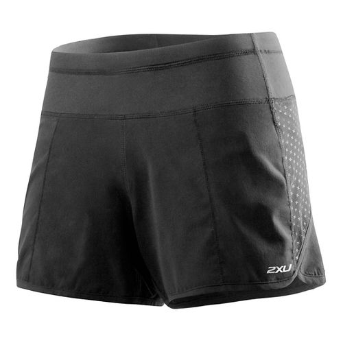 Womens 2XU Cross Sport Lined Shorts - Charcoal/Amethyst XS