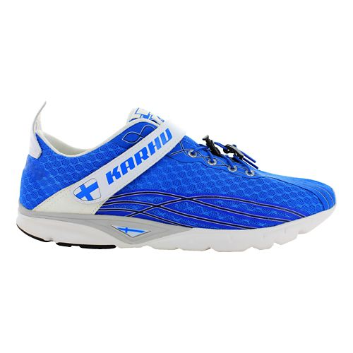 Womens Karhu FlowTri Fulcrum Running Shoe - Finnish Blue/White 10