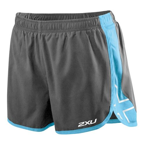 Womens 2XU X Stride Lined Shorts - Charcoal/Amalfi M
