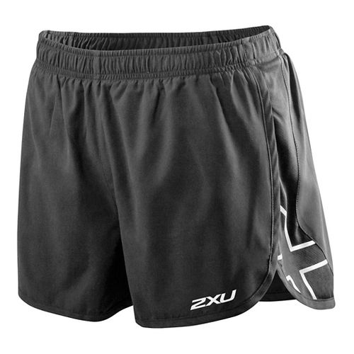 Womens 2XU X Stride Lined Shorts - Charcoal/Honeydew M
