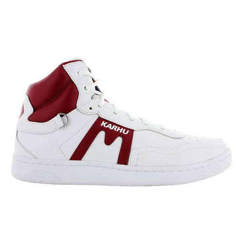 Mens Karhu Harlem Air Casual Shoe - White/Burgundy 11