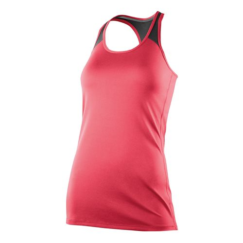 Womens 2XU Essential Racer Tank Technical Tops - Coral Paradise L