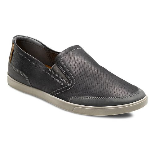 Mens Ecco Collin Casual Slip-On Casual Shoe - Moonless/Black 46