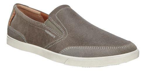 Mens Ecco Collin Slip-On Casual Shoe - Warm Grey/Tarmac 45