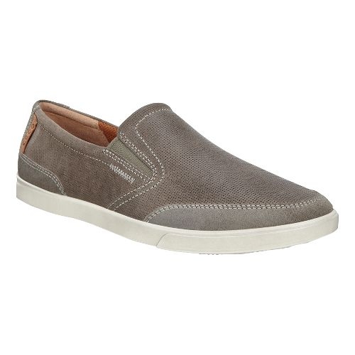 Mens Ecco Collin Slip-On Casual Shoe - Warm Grey/Tarmac 43