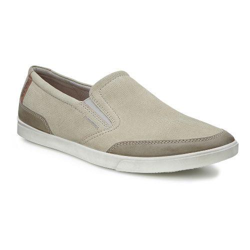 Mens Ecco Collin Casual Slip-On Casual Shoe - Warm Grey/Moon Rock 42