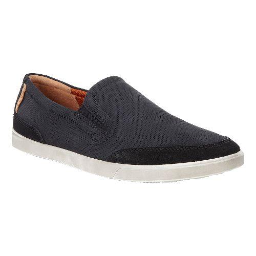 Mens Ecco Collin Slip-On Casual Shoe - Black 47