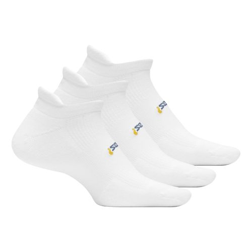 Feetures High Performance Cushion No Show Tab 3 pack Socks - White M