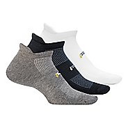 Feetures High Performance Light Cushion No Show Tab 3 pack Socks