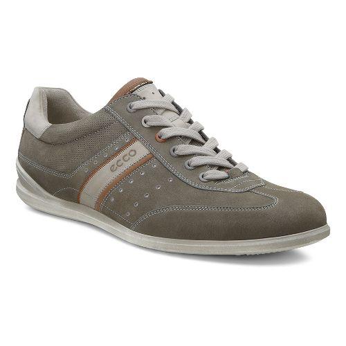 Mens Ecco Chander Sneaker Casual Shoe - Warm Grey/Mahogany 42