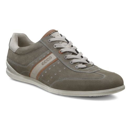 Mens Ecco Chander Sneaker Casual Shoe - Warm Grey/Mahogany 45