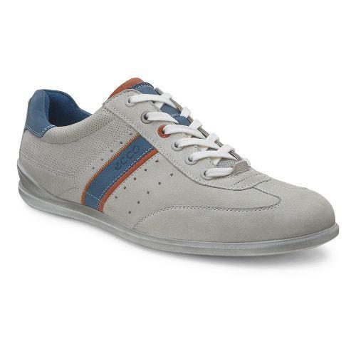 Mens Ecco Chander Sneaker Casual Shoe - Gravel/Burnt Ochre 40