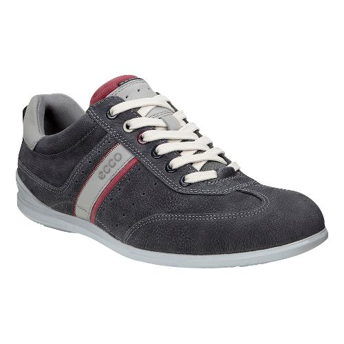 Mens Ecco Chander Sneaker Casual Shoe - Warm Grey/Mahogany 39