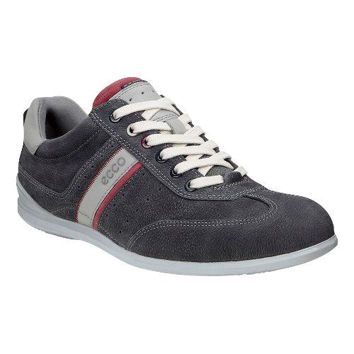 Mens Ecco Chander Sneaker Casual Shoe - Warm Grey/Mahogany 40