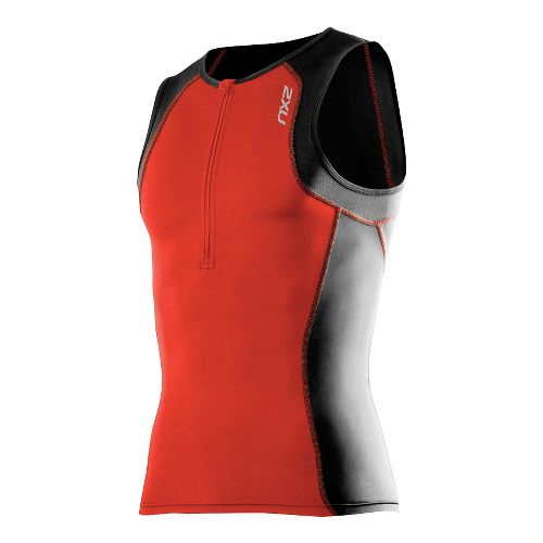 Mens 2XU G:2 Active Tri Singlet Sleeveless & Tank Technical Tops - Desert Red/Black XXL ...