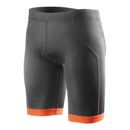 Mens 2XU G:2 Active Tri Unlined Shorts - Charcoal/Lotus Orange XXL