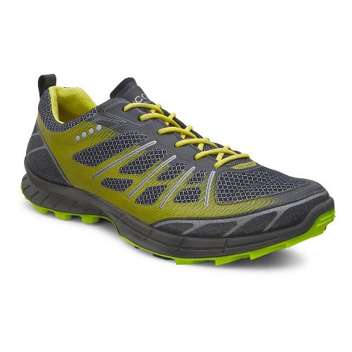 Mens Ecco BIOM Trail FL Lite Trail Running Shoe - Black/Herbal 41