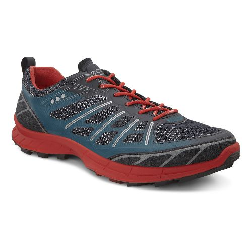 Mens Ecco BIOM FL Lite Trail Running Shoe - Black/Petrol 39