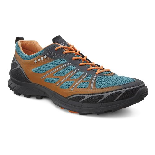 Mens Ecco BIOM FL Lite Trail Running Shoe - Black/Petrol 45
