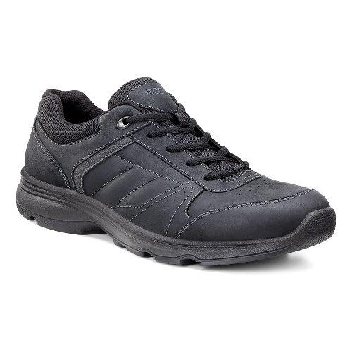 Mens Ecco Light IV Walking Shoe - Black/Dark Shadow 46