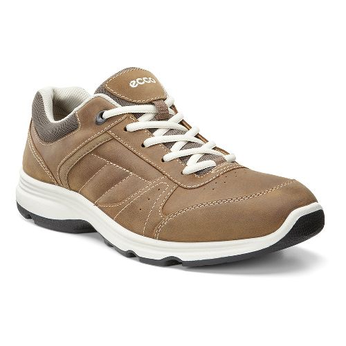 Mens Ecco Light IV Walking Shoe - Camel/Stone 40