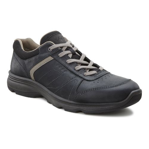 Mens Ecco Light IV Walking Shoe - Black/Black 42