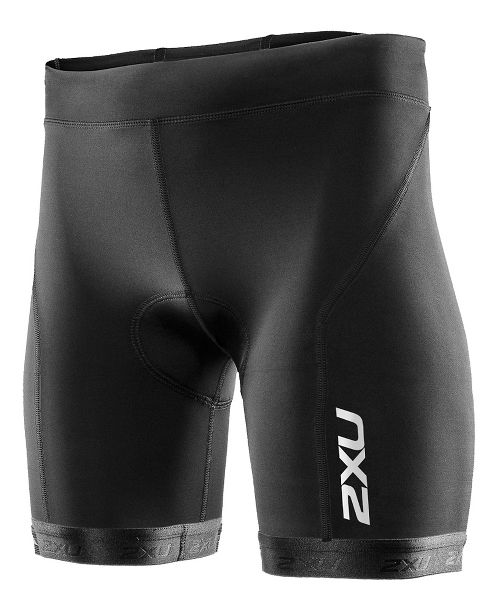 Womens 2XU G:2 Active Tri Unlined Shorts - Black/Black L