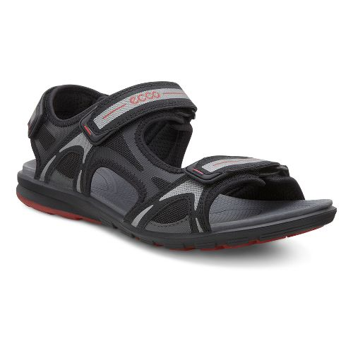 Mens Ecco Cruise Sport Sandals Shoe - Black/Dark Shadow 42