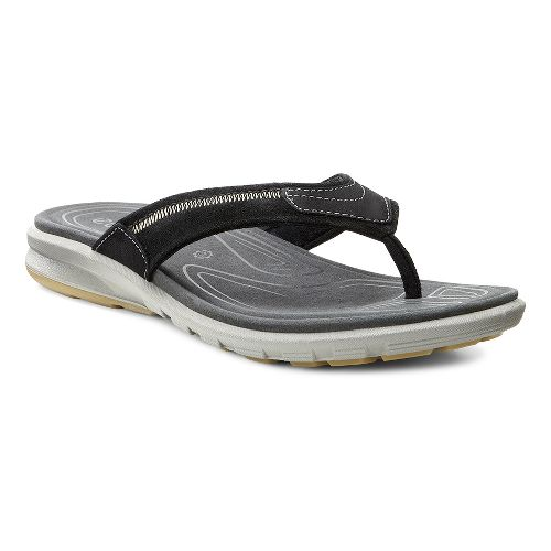 Mens Ecco Cruise Thong Sandals Shoe - Black 43