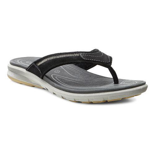 Mens Ecco Cruise Thong Sandals Shoe - Black 47