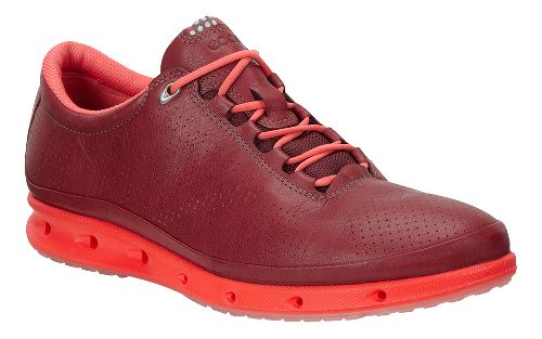 Womens Ecco Cool GTX Casual Shoe - Port/Coral Blush 39