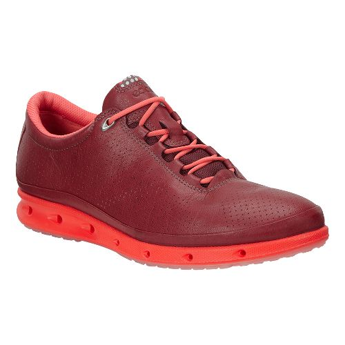 Womens Ecco Cool GTX Casual Shoe - Port/Coral Blush 37