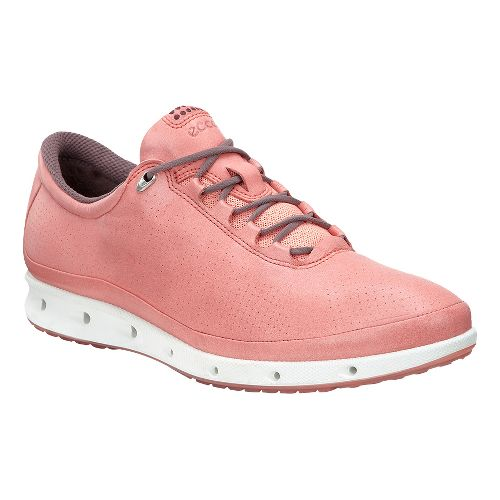 Womens Ecco Cool GTX Casual Shoe - Port/Coral Blush 38