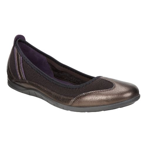 Womens Ecco Bluma Summer Ballerina Casual Shoe - Metallic/Tarmac 42