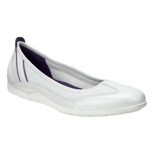 Womens Ecco Bluma Summer Ballerina Casual Shoe - White/Jewel 40