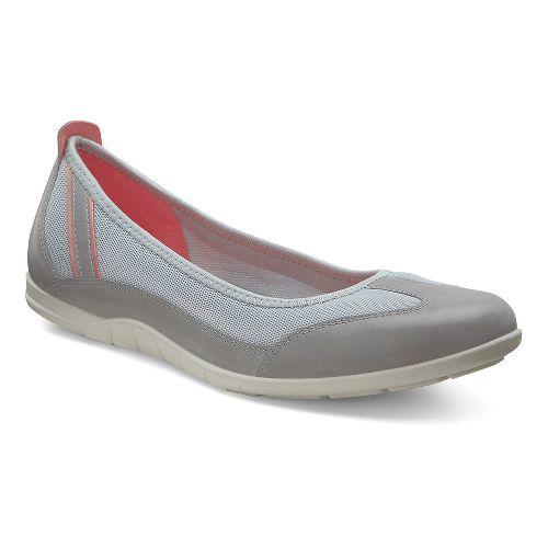 Womens Ecco Bluma Summer Ballerina Casual Shoe - Wild Dove/Concrete 38