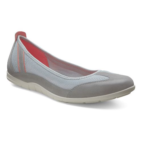 Womens Ecco Bluma Summer Ballerina Casual Shoe - Wild Dove/Concrete 40