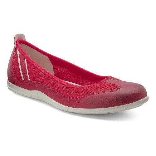 Womens Ecco Bluma Summer Ballerina Casual Shoe - Chili Red/Chili Red 37