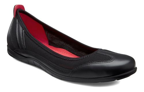 Womens Ecco Bluma Summer Ballerina Casual Shoe - Black/Black 37