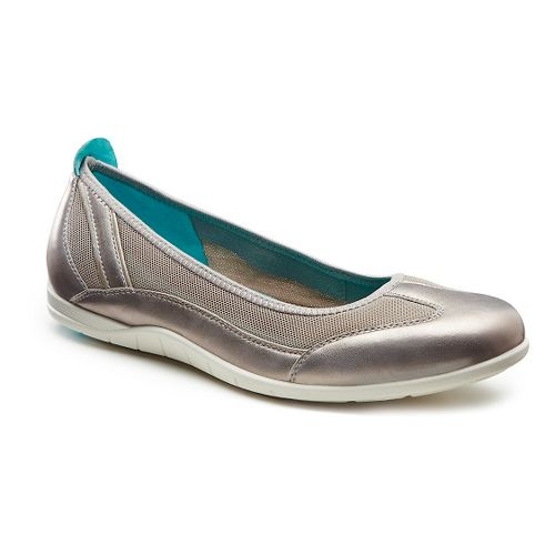 Womens Ecco Bluma Summer Ballerina Casual Shoe - Moon Rock/Moon Rock 36