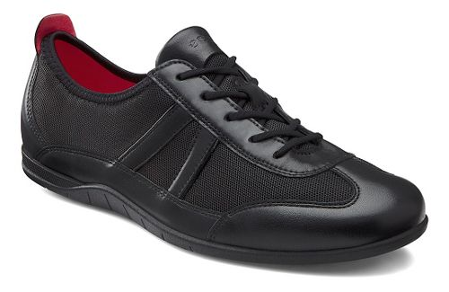 Womens Ecco Bluma Summer Sneaker Casual Shoe - Black/Black 35