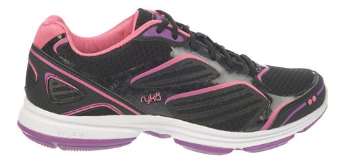 Womens Ryka Devotion Plus Walking Shoe - Black/Cool Mist Grey 8.5